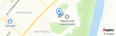 Энже на карте Уфы
