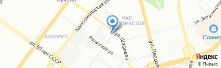 Нурляночка на карте Уфы