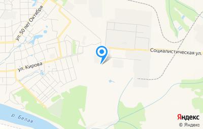 Местоположение на карте пункта техосмотра по адресу Респ Башкортостан, г Благовещенск, ул Социалистическая, зд 46