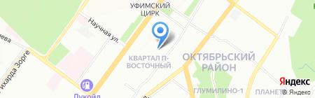Гефест на карте Уфы