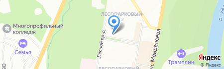 Башкирский пуховый платок на карте Уфы