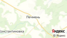Отели города Печмень на карте