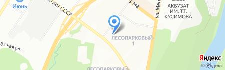 Городская онкологическая поликлиника №2 на карте Уфы