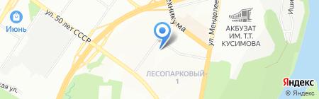 Леона на карте Уфы