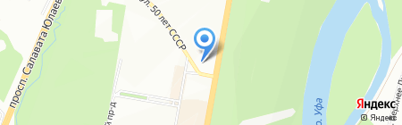 Вагаси на карте Уфы