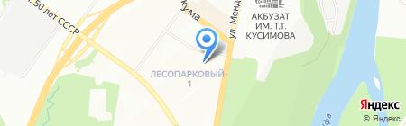 Детский сад №259 на карте Уфы
