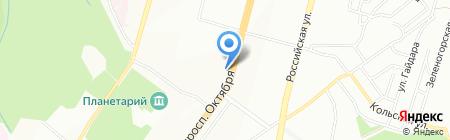 Сандра на карте Уфы