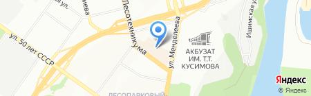 Жасмин-тур на карте Уфы