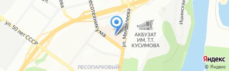 Acses на карте Уфы