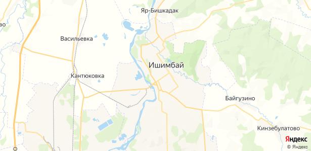 Ишимбай на карте