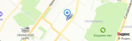 Лидер-Сервис на карте Уфы