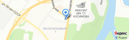 Адели-Тур на карте Уфы