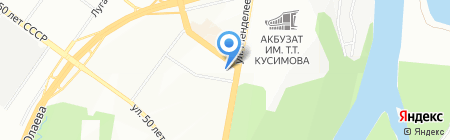 Уфа-Квартал на карте Уфы