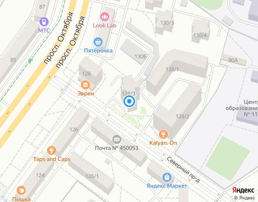 Товарищество собственников жилья «Северный» на карте Уфы