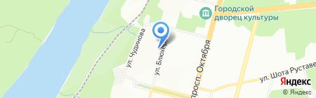 Средняя общеобразовательная школа №116 на карте Уфы