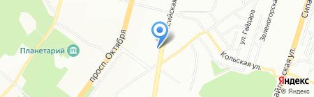 Средняя общеобразовательная школа №114 на карте Уфы