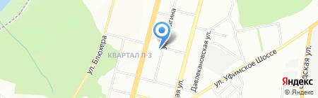 Уфимский станок на карте Уфы