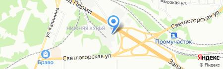 Правый берег на карте Перми