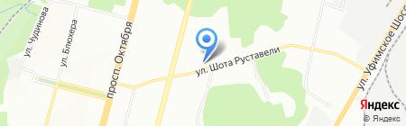 Мелеста на карте Уфы