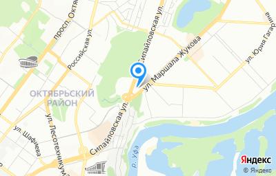 Местоположение на карте пункта техосмотра по адресу г Уфа, ул Маршала Жукова, д 1/1