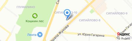 Азимут на карте Уфы