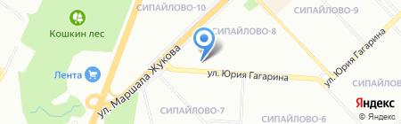 Визит на карте Уфы