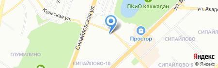 Банкомат Банк Уралсиб на карте Уфы
