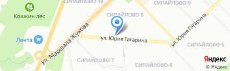 Шафран на карте Уфы