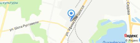 Аква Тепло на карте Уфы