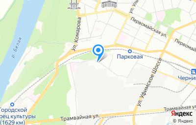 Местоположение на карте пункта техосмотра по адресу г Уфа, ул Цветочная, д 7/1