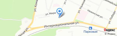 Средняя общеобразовательная школа №109 на карте Уфы