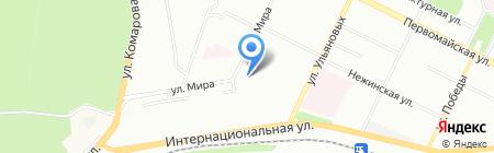 Аско на карте Уфы