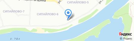 Златовласка на карте Уфы