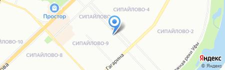 Флория на карте Уфы