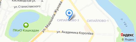 Парикмахерская на карте Уфы