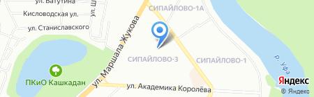 Расческа на карте Уфы