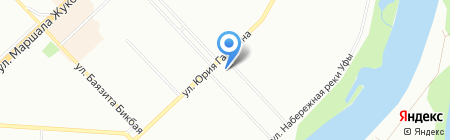 Ивановский текстиль на карте Уфы