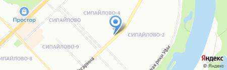 Банкомат АКБ Форштадт на карте Уфы