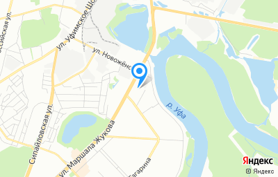 Местоположение на карте пункта техосмотра по адресу г Уфа, ул Маршала Жукова, д 30