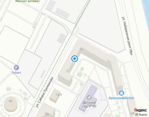 Товарищество собственников жилья «Дом на Набережной» на карте Уфы