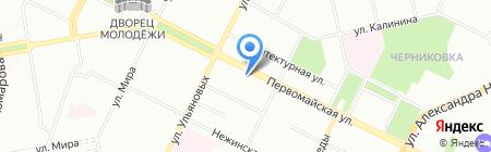 Сеть магазинов тканей и фурнитуры на карте Уфы