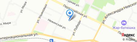 Детский сад №57 на карте Уфы