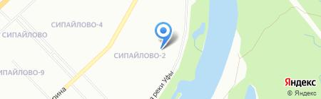Утес на карте Уфы