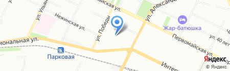 Средняя общеобразовательная школа №87 на карте Уфы