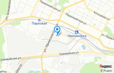 Местоположение на карте пункта техосмотра по адресу г Уфа, ул Индустриальное шоссе, д 26