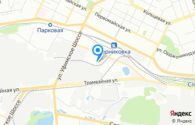 Местоположение на карте пункта техосмотра по адресу г Уфа, ул Индустриальное шоссе, д 36