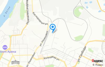 Местоположение на карте пункта техосмотра по адресу г Уфа, ул Инициативная, д 2/2