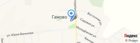 Уголок на карте Гамово