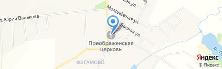 Спасо-Преображенская церковь на карте Гамово
