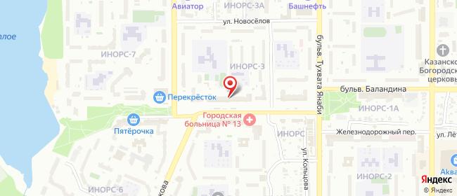 Карта расположения пункта доставки Уфа Транспортная в городе Уфа
